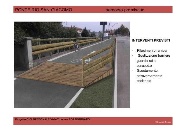 © Scarpa & Drouille PONTE RIO SAN GIACOMO percorso promiscuo Progetto CICLOPEDONALE Viale Trieste – PORTOGRUARO INTERVENTI...