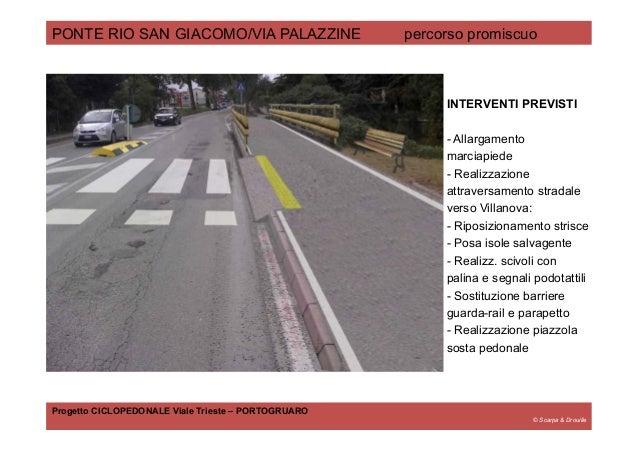 © Scarpa & Drouille PONTE RIO SAN GIACOMO/VIA PALAZZINE percorso promiscuo Progetto CICLOPEDONALE Viale Trieste – PORTOGRU...