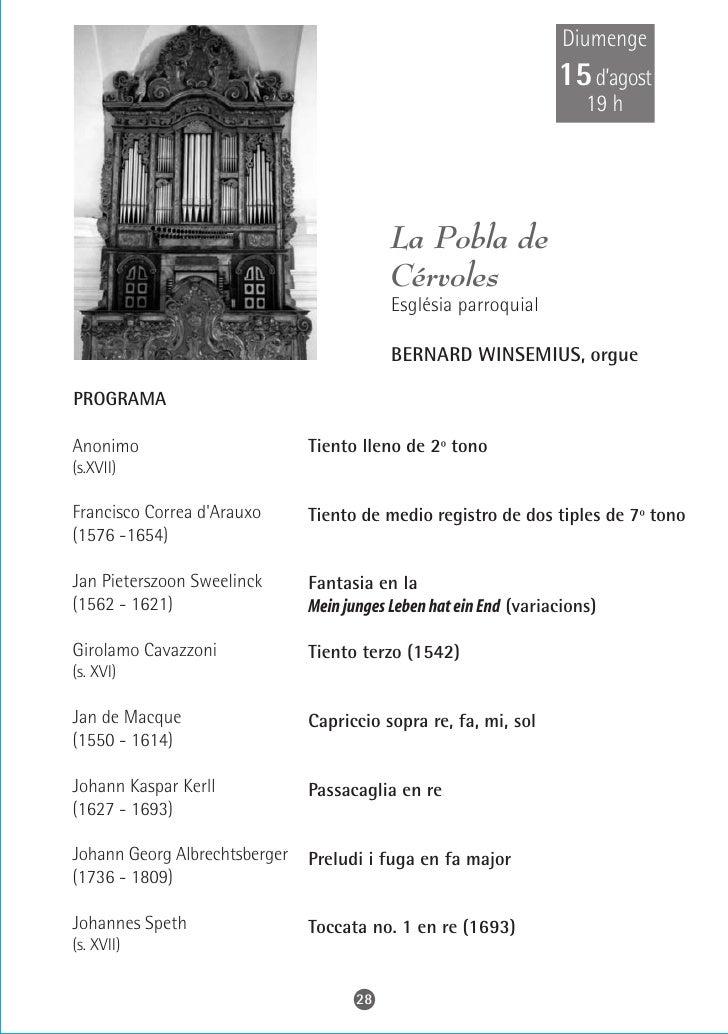 Dijous 19 d'agost     22 h                               Sitges                      Parròquia de        Sant Bartomeu i S...