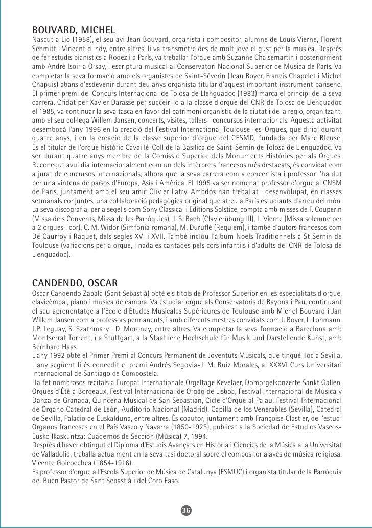CASTILLO, JOAN Realitza els estudis d'orgue amb Jordi Figueras al Conservatori Professional de Terrassa i estudis de fuga ...