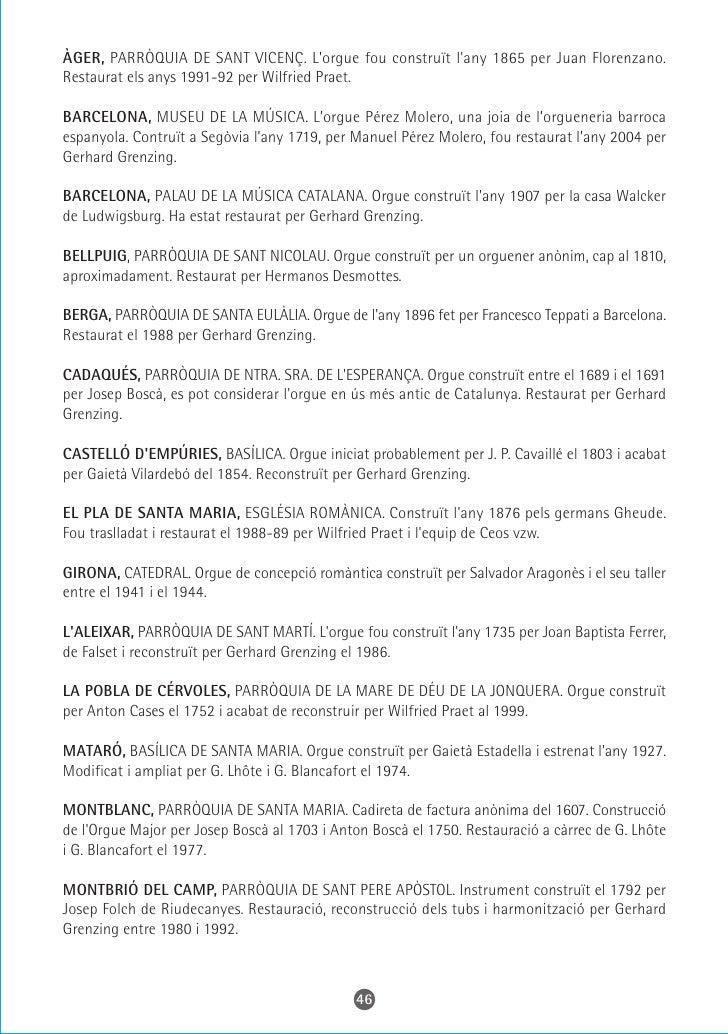 RINER, SANTUARI DEL MIRACLE. Orgue original d'Antoni Bordons dels anys 1593-94. Reconstrucció de Gerhard Grenzing.  SANT L...