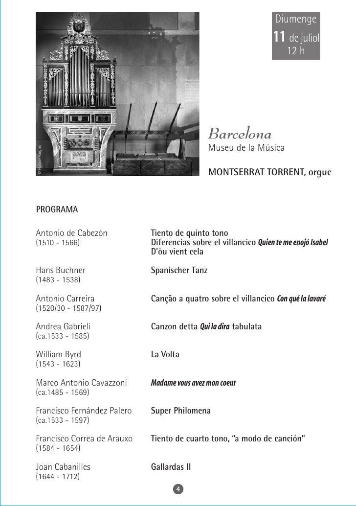Dimecres 14 de juliol     22 h                          Sitges               Parròquia de Sant Bartomeu i Santa Tecla  OSC...