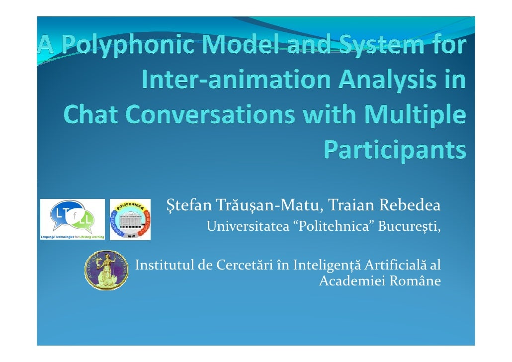 A Polyphonic Model and System forInter-animation Analysis in Chat Conversations with Multiple Participants