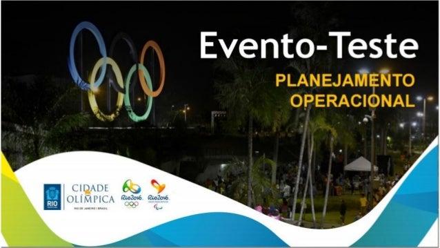  Oportunidade única para testar o percurso antes dos Jogos Olímpicos;  A prova percorrerá diferentes regiões da cidade, ...