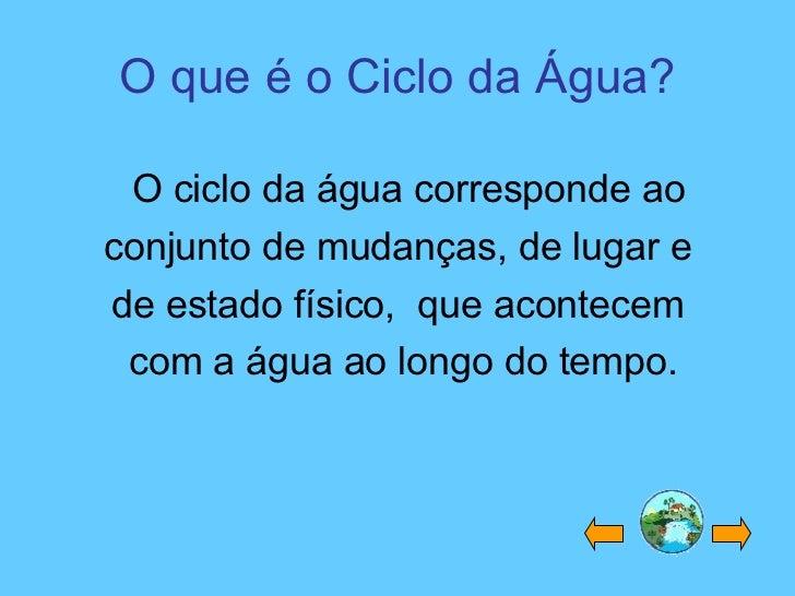 Ciclo Da Agua Slide 2