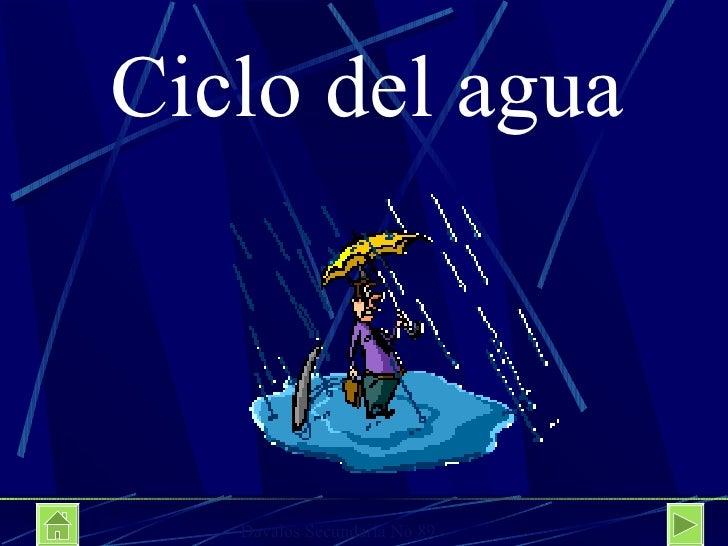 Ciclo del agua Davalos Secundaria No 89