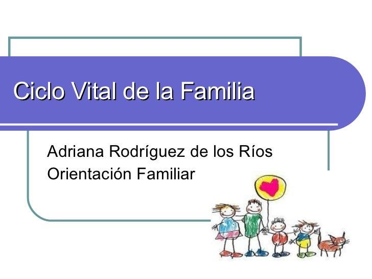Ciclo Vital de la Familia Adriana Rodríguez de los Ríos Orientación Familiar