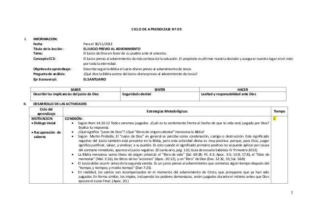 CICLO DE APRENDIZAJE Nº 09 I.  INFORMACION: Fecha: Título de la lección: Tema: Concepto CCE: Objetivo de aprendizaje: Preg...