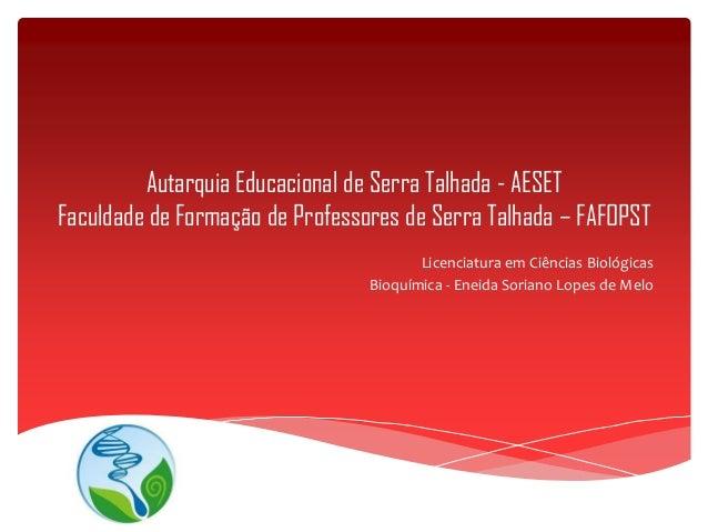 Autarquia Educacional de Serra Talhada - AESETFaculdade de Formação de Professores de Serra Talhada – FAFOPSTLicenciatura ...