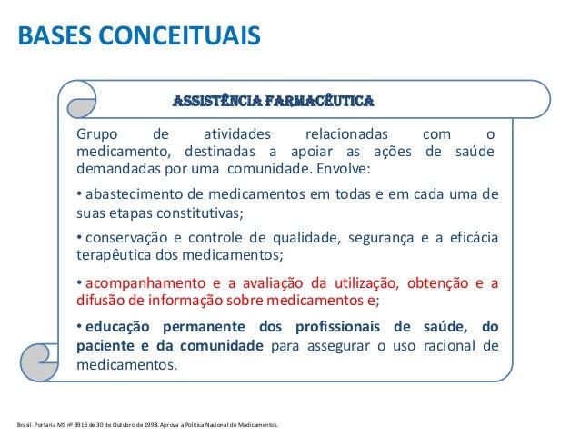 Ciclo da assistência farmacêutica1 Slide 2
