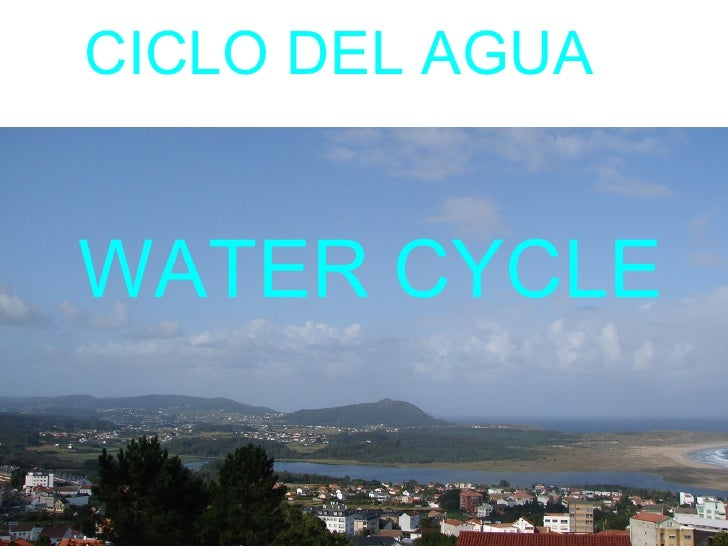 WATER CYCLE CICLO DEL AGUA