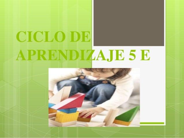Ciclo de aprendizaje 5 e