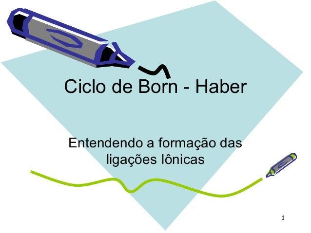 1 Ciclo de Born - Haber Entendendo a formação das ligações Iônicas