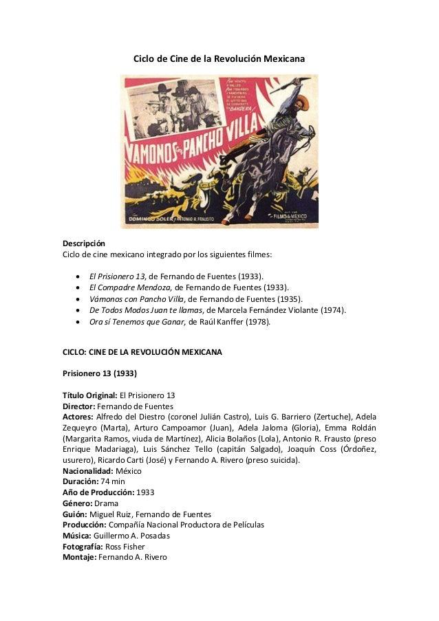 Ciclo de cine de la revolución mexicana