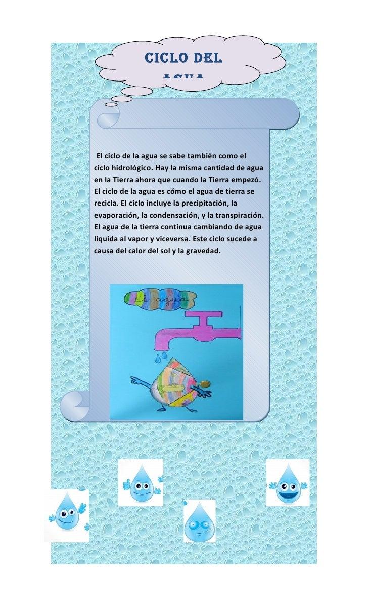 Ciclo del agua crucigrama