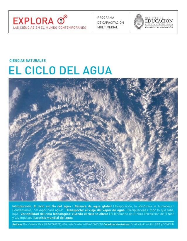 EL CICLO DEL AGUA CIENCIAS NATURALESCIENCIAS NATURALES Introducción. El ciclo sin fin del agua | Balance de agua global | ...