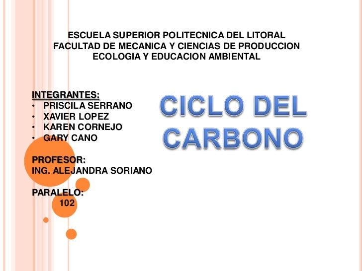 ESCUELA SUPERIOR POLITECNICA DEL LITORAL<br />FACULTAD DE MECANICA Y CIENCIAS DE PRODUCCION<br />ECOLOGIA Y EDUCACION AMBI...