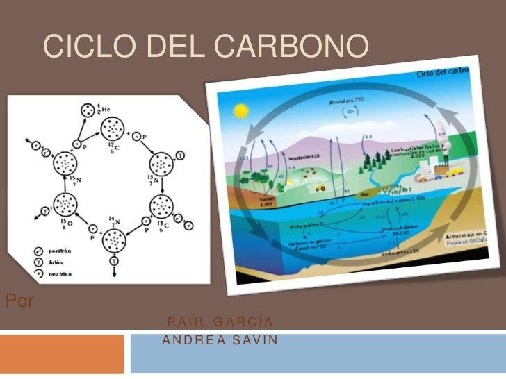 Ciclo del carbono<br />Por<br />Raúl García<br />Andrea sAVIN<br />