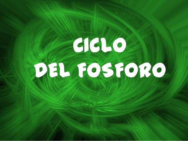 CICLODEL FOSFORO