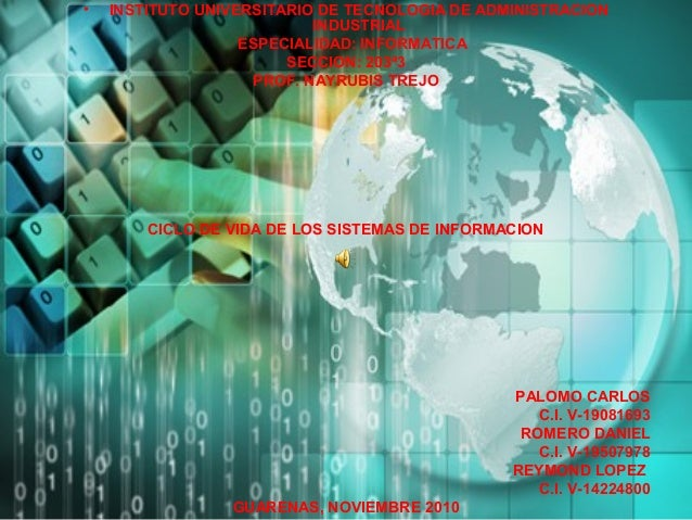 • INSTITUTO UNIVERSITARIO DE TECNOLOGIA DE ADMINISTRACION INDUSTRIAL ESPECIALIDAD: INFORMATICA SECCION: 203ª3 PROF. NAYRUB...