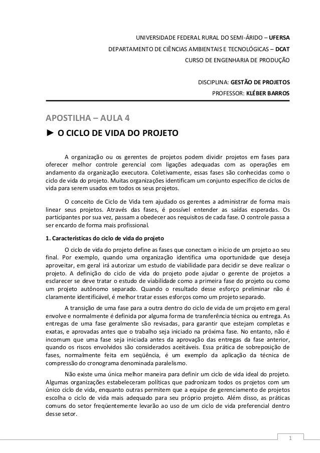 UNIVERSIDADE FEDERAL RURAL DO SEMI-ÁRIDO – UFERSA  DEPARTAMENTO DE CIÊNCIAS AMBIENTAIS E TECNOLÓGICAS – DCAT  CURSO DE ENG...
