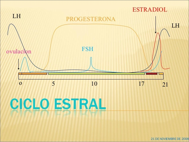 o 10 17 215 ovulacìon LH FSH PROGESTERONA ESTRADIOL LH 21 DE NOVIEMBRE DE 2008