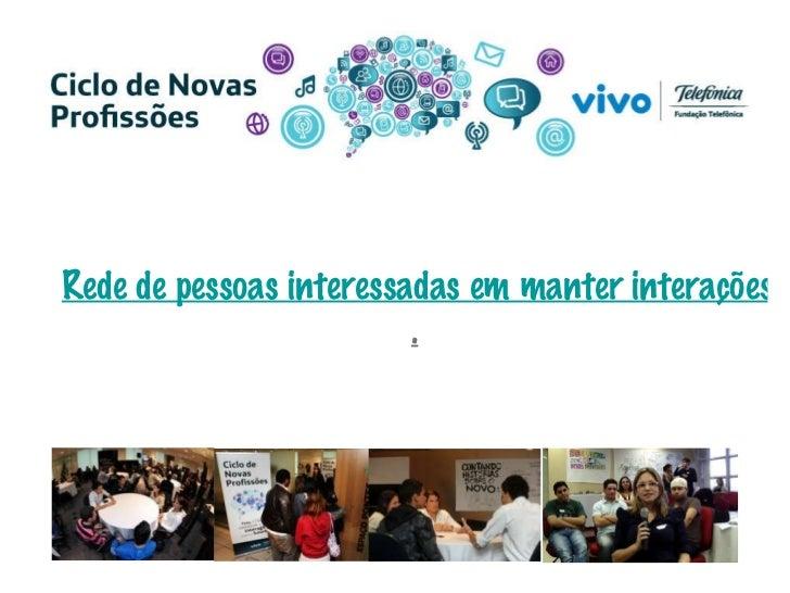 Rede de pessoas interessadas em manter interações sobre novas profissões digitais no cenário brasileiro .