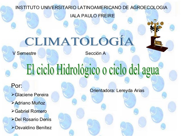 INSTITUTO UNIVERSITARIO LATINOAMERICANO DE AGROECOLOGIA                     IALA PAULO FREIREV Semestre                Sec...