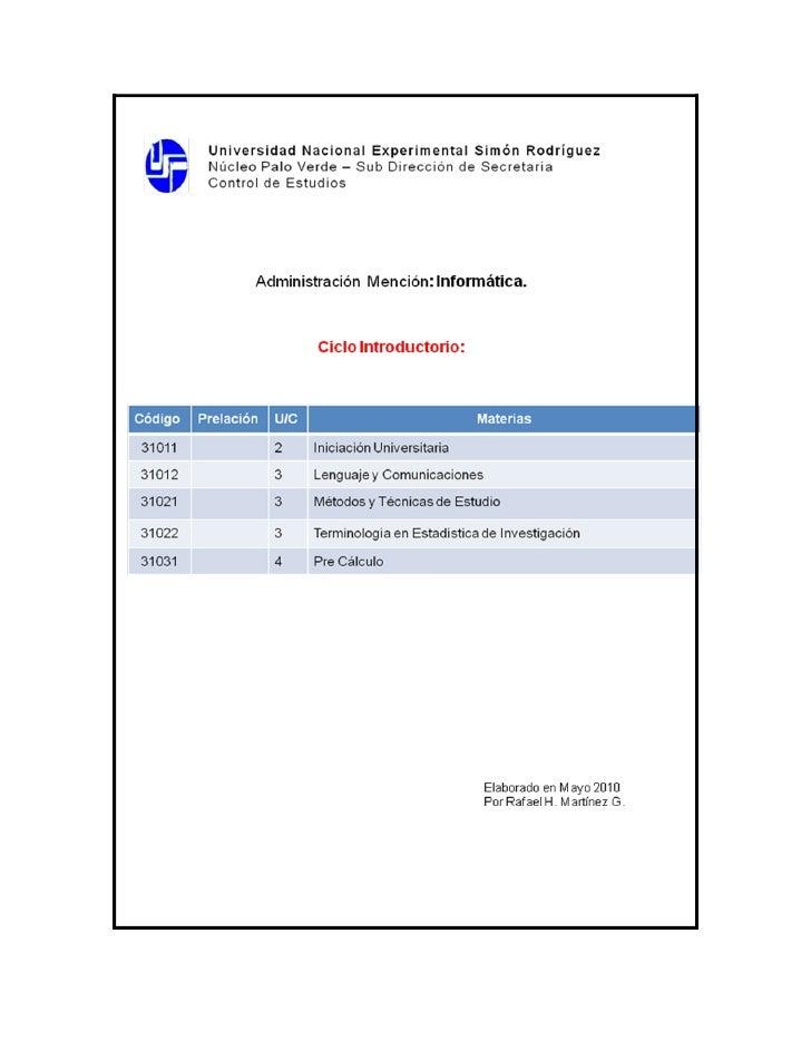 REPUBLICA BOLIVARIANA DE VENEZUELA           UNIVERSIDAD NACIONAL EXPERIMENTAL SIMÓN RODRÍGUEZ                        VICE...