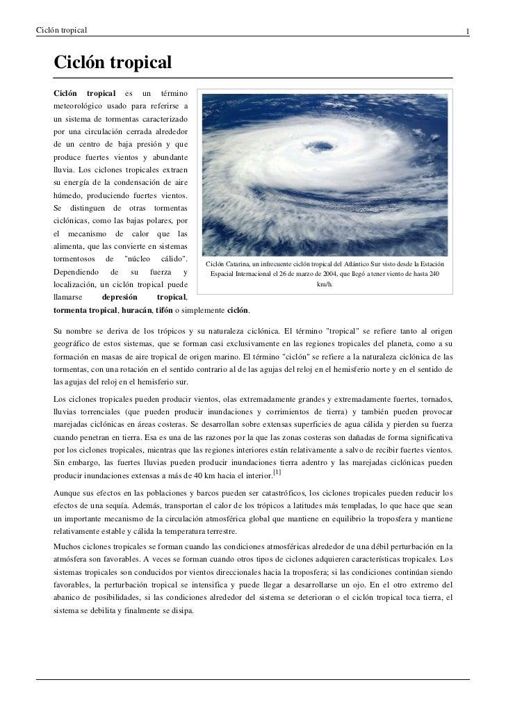 Ciclón tropical                                                                                                           ...