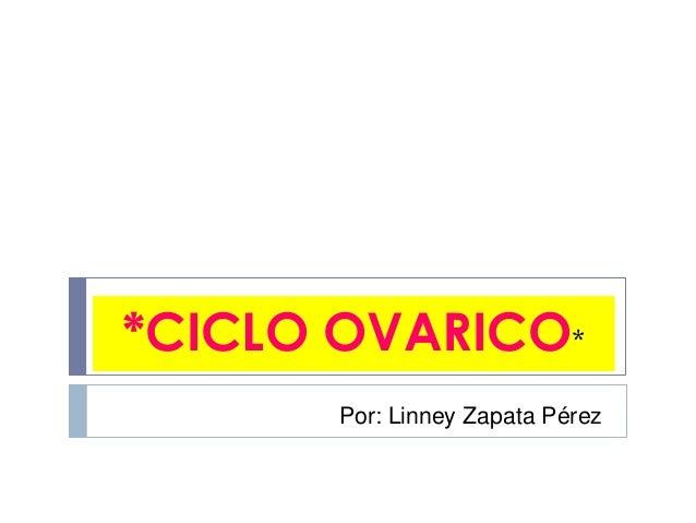 *CICLO OVARICO* Por: Linney Zapata Pérez