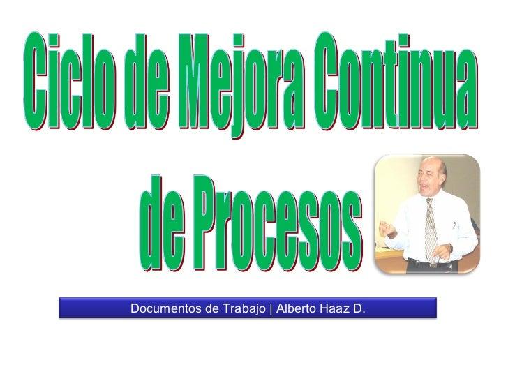 Documentos de Trabajo   Alberto Haaz D.