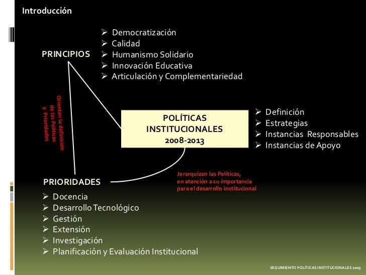 Introducción                        Democratización                        Calidad    PRINCIPIOS          Humanismo Sol...