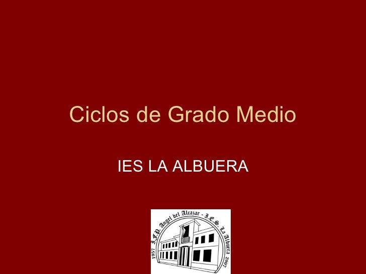Ciclos de Grado Medio IES LA ALBUERA