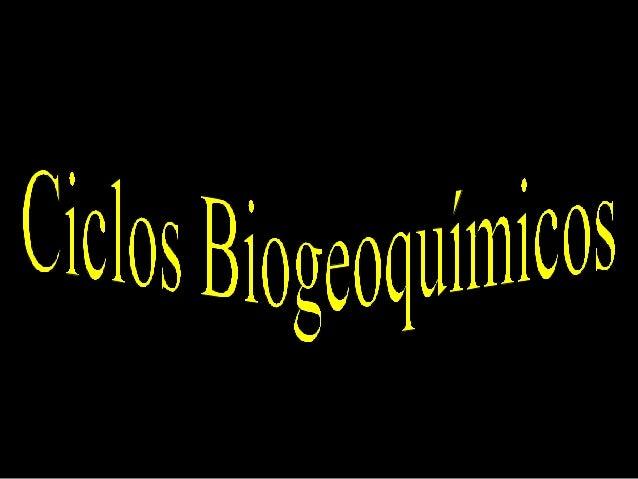 • Ciclo Biogeoquímico: é a permuta cíclica de elementos químicos que ocorre entre os seres vivos e o ambiente. Tais ciclos...