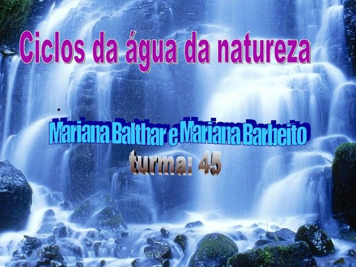 DefiniçãoA água circula a natureza, podemos passar  pelos diferentes estados sólido, líquido e  gasoso.