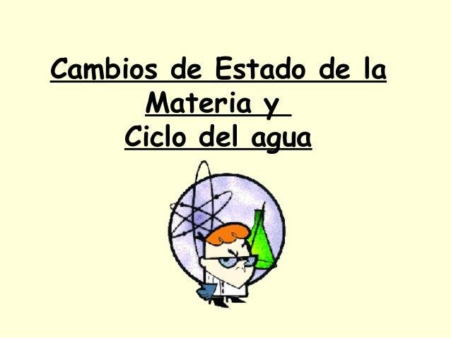 Cambios de Estado de la Materia y Ciclo del agua