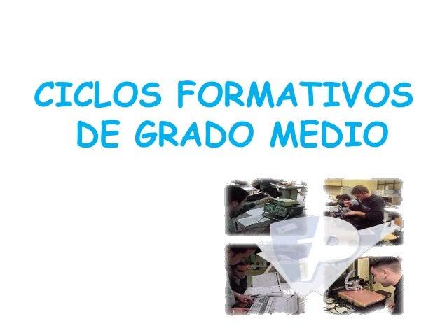 Ciclos Formativos De Grado Medio Isabel Bosch Linares