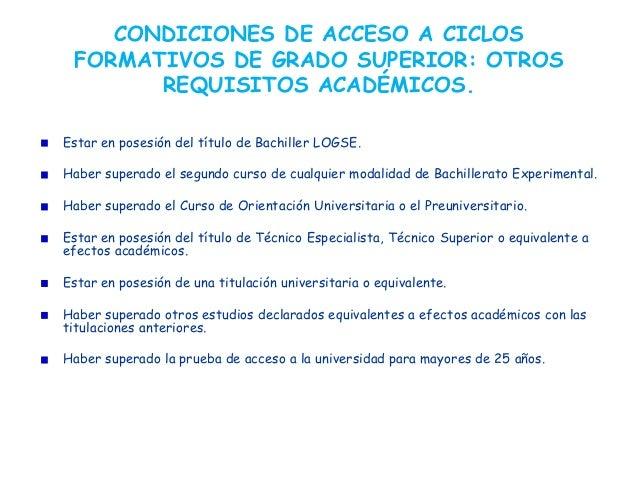 Ciclos Formativos De Grado Superior Isabel Bosch Linares