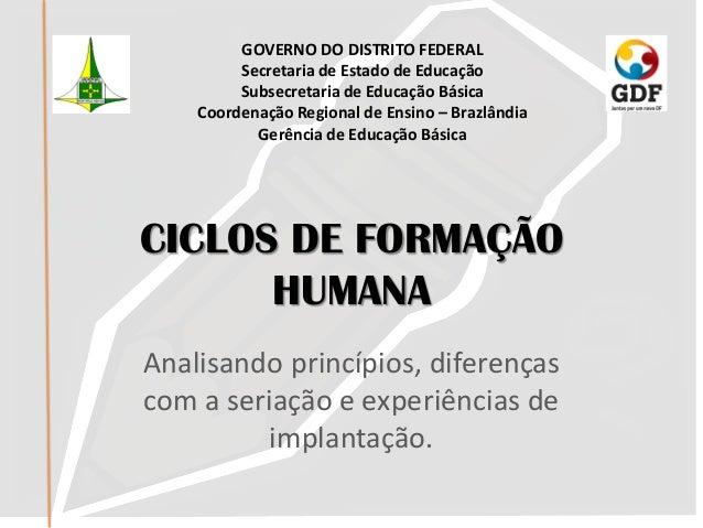 GOVERNO DO DISTRITO FEDERAL         Secretaria de Estado de Educação         Subsecretaria de Educação Básica    Coordenaç...