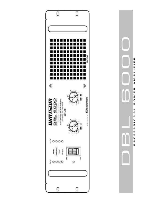 1 de 24DBL 6000 PROFESSIONALPOWERAMPLIFIER DBL6000