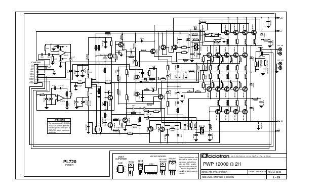 FOLHA: 02/03 PWP 12000 2H BD139 BD140 Todos os resistores são de 1/4W e todos os ca- pacitores eletrolíticos são de 25V, e...