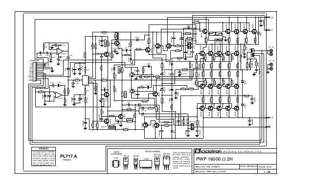 FOLHA: 02/03 PWP 16000 2H BD139 BD140 Todos os resistores são de 1/4W e todos os ca- pacitores eletrolíticos são de 25V, e...