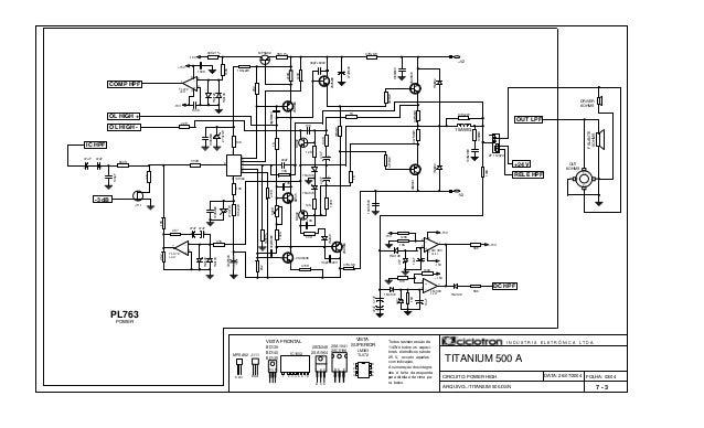 FOLHA: 03/04 TITANIUM 500 A BD139 BD140 BD135 Todos resistores são de 1/4W e todos os capaci- tores eletrolítcos são de 25...