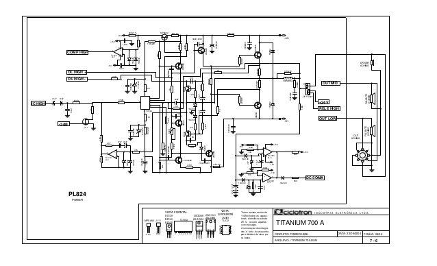 FOLHA: 04/06 TITANIUM 700 A BD139 BD140 BD135 Todos resistores são de 1/4W e todos os capaci- tores eletrolítcos são de 25...