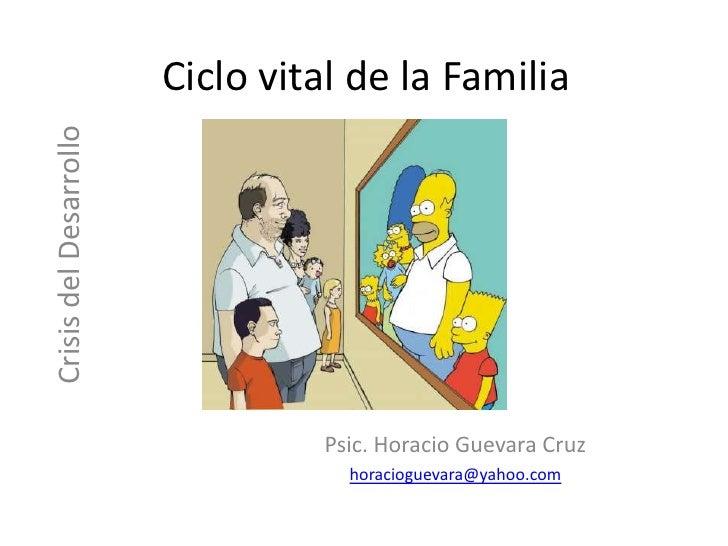 Ciclo vital de la Familia<br />Crisis del Desarrollo<br />Psic. Horacio Guevara Cruz<br />horacioguevara@yahoo.com<br />