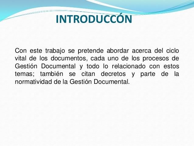 Ciclo vital de los documentos Slide 2