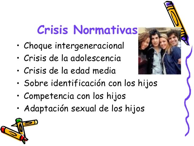 Crisis Normativas • Choque intergeneracional • Crisis de la adolescencia • Crisis de la edad media • Sobre identificación ...