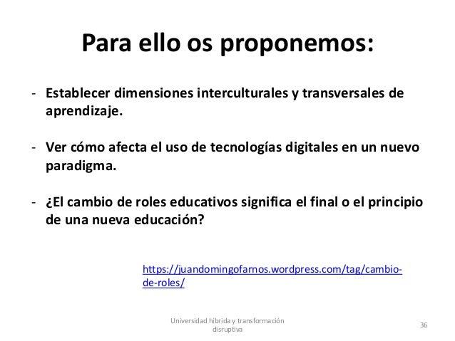 Para ello os proponemos: - Establecer dimensiones interculturales y transversales de aprendizaje. - Ver cómo afecta el uso...