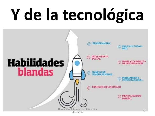 Y de la tecnológica Universidad híbrida y transformación disruptiva 38